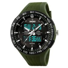 Big Luxury Mens Sport Quartz Army Chronograph Analog-Digital Quartz Wrist Watch