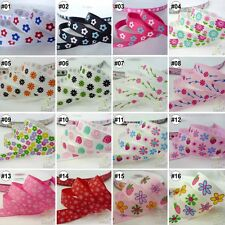 "3/8""--1.5"" Mixed Flower Grosgrain Ribbon Craft 10Yards 16 Designs U Pick Craft"