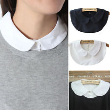 Unisex Women Detachable Dickey Blouse Shirt Peter Pan Fake False Choker Collar