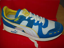 Puma Men's RS100 BW Athletic Sneaker #357488-01 White/French Blue/Yellow