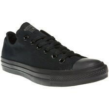 New Boys Converse Black All Star Ox Canvas Trainers Lace Up
