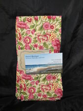 New April Cornell yellow/pink/green floral cotton fabric set of 4 napkins