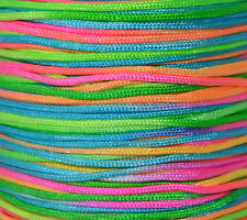 5 or 10 Meters Rainbow Colour Nylon Rattail Braided Thread Cord ~ 1.5mm