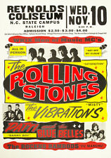 The Rolling Stones  - Reynolds Coliseum  - Raleigh NC - 1965 Concert Poster