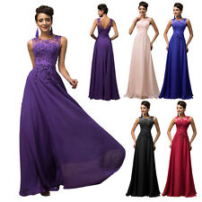 Plus Size Long Vintage Lace Bridesmaid Cocktail Evening Prom Party Formal Dress
