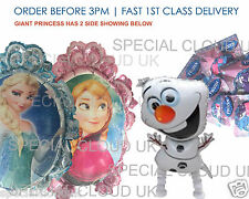 Frozen Anna Elsa Olaf FOIL LATEX Balloon DISNEY MARVEL PARTY Airwalker COMPLEANNO