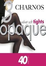 Charnos 40 Denier Velvet Soft Opaque Tights, 3 Pair Pack, Multipack Tights