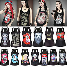 Princess Series! Snow White Mermaid Women's Summer Tank Tops Blouse T-shirt Vest