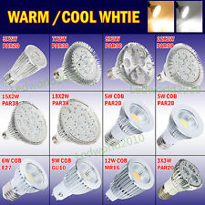 Bright 6/9/12/18/24/36W LED Lamp Spot Down Light Bulbs GU10 MR16 E27 PAR20/30/38