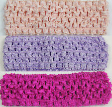 WHOLESALE  GIRLS BABY TODDLE SOFT crochet HEADBANDS 1.5 inch