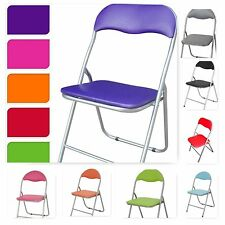 Folding Padded Office Reception Desk Chairs Foldable Chair Easy Storage 8 Colour
