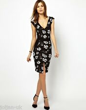 NEW LADIES FRENCH CONNECTION DRESS WITH FLORAL PANEL UK SIZE 8 BNWOT