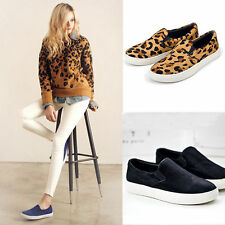 New Fashion Womens Slip On Leisure Canvas Comfort Shoes Sneakers Loafers