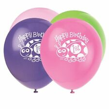 "Party Latex Ladybug First 1st Birthday Assorted 12"" Balloons Kids - Pack of 8"