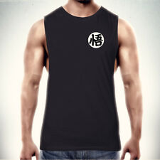 "Dragon Ball Z GOKU 'WISDOM"" KANJI MUSCLE T-SHIRT TRAIN INSAIYAN SINGLET TANK Tee"