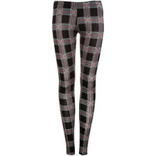 Pull and Bear Check Print Leggings - EUR M - Size 6/8