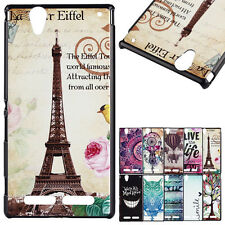 Stylish Patterned PC Hard Back Case Cover For Sony/Huawei Phones Protective Skin