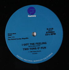 TWO TONS O' FUN / SLICK: I Got The Feeling / Space Bass 12 (Patrick Cowley mega