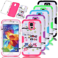 Rugged Hybrid Owl Printed Dual Layer Combo Matte Armor Case For iPhone Samsung