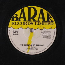 JACKIE PAYNE: It's Gonna Be Alright / I Found Myself 45 (UK) Soul