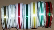 1 ROLL VINTAGE 3M DECORETTE RIBBON MAGIC BOW GREEN RED PINK GOLD WHITE SILVER