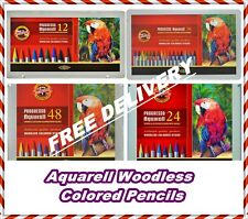 Koh-i-noor Progresso Aquarell Woodless Colored Pencils in metal