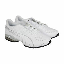 Puma Cell Surin Mens White Silver Synthetic Athletic Lace Up Running Shoes