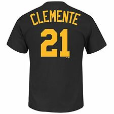 Roberto Clemente #21  Pittsburgh Pirates Cooperstown Cool Base Tee  - Majestic