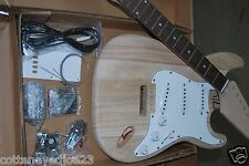 CUSTOMIZE A BEAUTIFUL NEW STRAT ELECTRIC GUITAR KIT-PARTS HAND CARVED