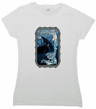 Mermaid with Frame of Knots - I Love the sea  -  Women's T-Shirt