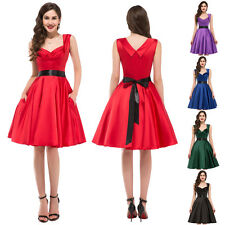 CHEAP~ Vintage Style 50s Swing Rockabilly Pinup Retro Prom Party Evening Dresses