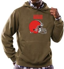 Cleveland Browns Majestic NFL Critical Victory Hooded Sweatshirt - Brown