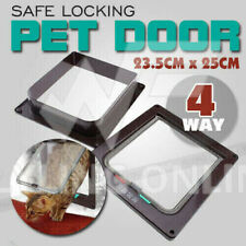 TOP Quality Safe 4-Way Locking Lockable Pet Cat Small Dog Flap Door White Frame