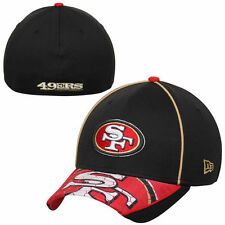 San Francisco 49ers New Era NFL Hex Charge Flex Hat - Black