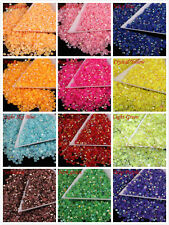 1000 Jelly drill Flat Back AB Rhinestones Gems Bead Craft 3 mm 15 Colors