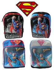 New Boys Superman Backpack Book Bag Kids School DC Comics Man of Steel Hero Kids