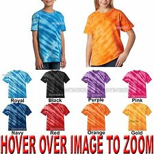YOUTH Tie Dye T-Shirt Tiger Stripe XS,S,M,L,XL Boys Girls Unisex Kids Tye Died