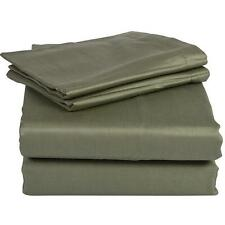 """NEW  OLIVE GREEN 1000TC EGYPTIAN COTTON COMPLETE US BEDDING 15""""DEEP POCKET"""