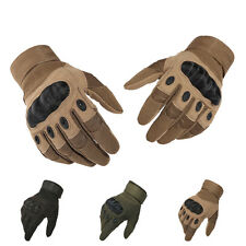 Motorcycle Tactical Airsoft Paintball Cycling Army Knuckle Full Finger Gloves