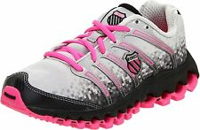 K-Swiss Women's Tubes Run 100 Jogger in Lt. Grey/Black with Pink in Sz.  6 to 11