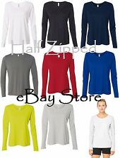 Alo Sport Ladies Performance Long Sleeve T-Shirt W3009 XS-3XL Polyester Dri Fit