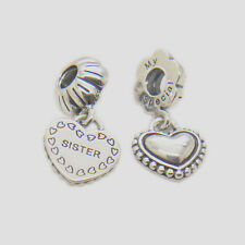 Authentic s925 Sterling Silver Hanging My Special Sister Bead A pairs