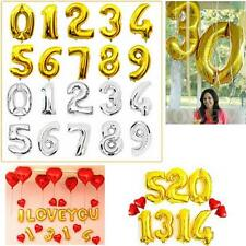 40'' Silver Gold Foil Helium Number Balloons Party Birthday Wedding Decoration