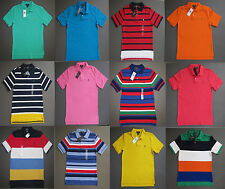 Ralph Lauren Polo Kids Boys Pony Polo Shirts Size S M L XL Ages 8-14 Genuine NWT