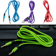 3.5mm Male to Male Flat Car Stereo Audio Auxiliary AUX Cable Cord For MP3 PC LOT