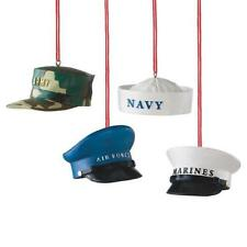 NEW Air Force, Army, Marines, or Navy Military Hat Christmas Ornament 102350