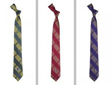 "Choose Your NFL Team 100% Woven Polyester 2.5"" Skinny Plaid Tie by Eagles Wings"
