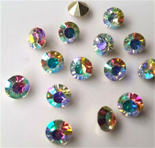 Wholesale 100-1000pcs4mm  AB Point back Rhinestone Crystal Glass Chatons Strass