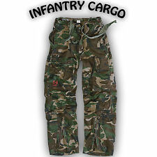 COMBAT TROUSERS SURPLUS TEX  INFANTRY CARGO TROUSERS WORK TROUSERS MILITARY