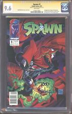 CGC SS 9.6 Spawn 1 Signed by Todd McFarlane Very Rare Newsstand edition not 9.8